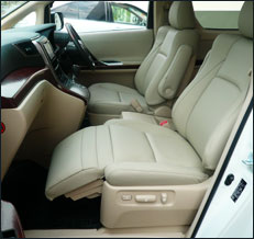 Toyota Vellfire Leather Seat Covers & Upholstery