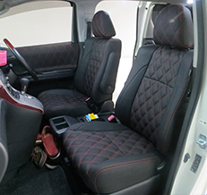 Toyota Vellfire Diamond Shape Leather Seat Covers & Upholstery