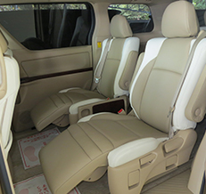 Toyota Vellfire 1/2 Spec Leather Seat Covers & Upholstery
