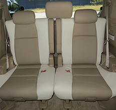 Toyota Vellfire 1/2 Spec – Beige / White Leather