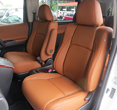 Toyota Vellfire (Tan Colour) Leather Seat Covers & Upholstery