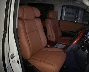 Toyota Vellfire (4 Pilot Headrest) Leather Seat Covers & Upholstery