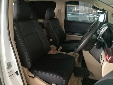 Toyota Vellfire 2010 Black E-Leather Seat Covers & Upholstery