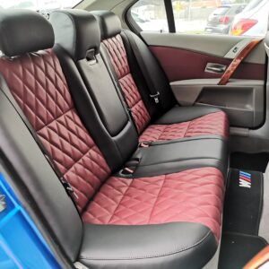BMW E60 2005 (E-Nappa Black & Maroon with diamond shape)