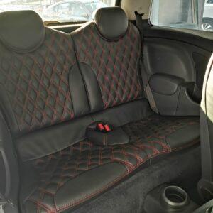 Mini Cooper S 2005 (Black Leather with Diamond Shape Design)