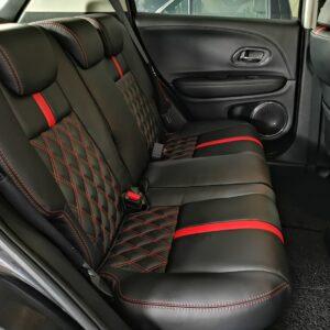 Honda HRV 1.8L 2016 (E-Nappa Black with Diamond Shape Design)
