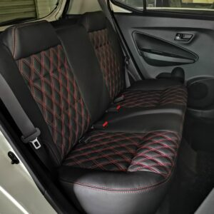 Perodua Axia X 2020 in Black Leather with diamond shape Design