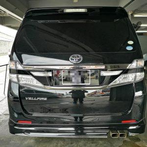 Toyota Vellfire Pilot Seat 2012 (Black & Orange with Diamond Shape Design)